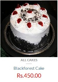Black Forest 1 2 Kg Cake Rs 450 Only Plus Gift