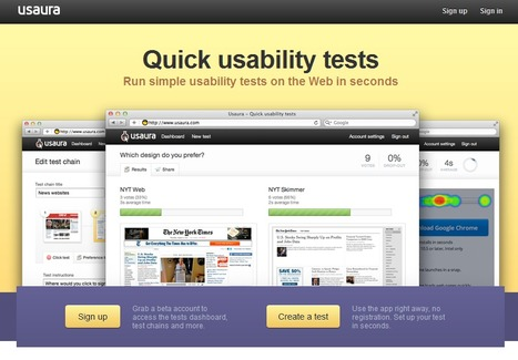 Usaura - Quick usability tests | Time to Learn | Scoop.it