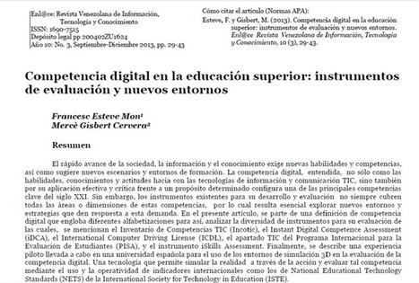 Competencia digital en la educación superior: instrumentos de evaluación y nuevos entornos   RedDOLAC   Scoop.it