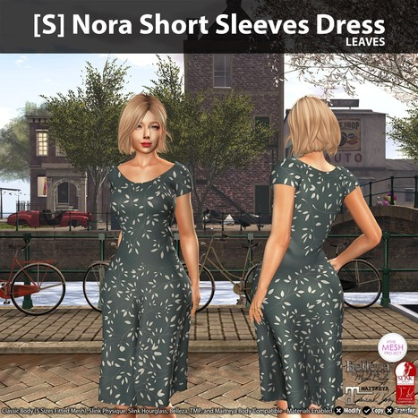 New Release   S  Nora Short Sleeves Dress by  satus Inc   2cb7780c4966