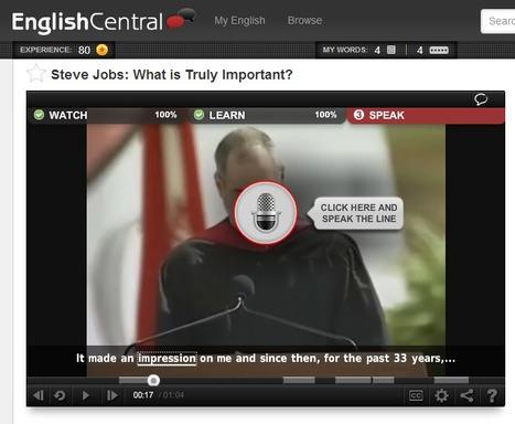 Améliorer gratuitement son anglais en ligne : EnglishCentral.com | TIC et Langues | Scoop.it