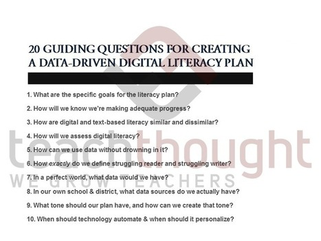 20 Guiding Questions To Develop A Digital Literacy Plan - | K-12 School Libraries | Scoop.it