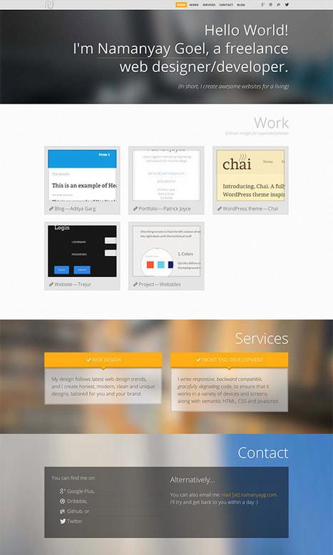 Web Design Workshop #31: Namanyay Goel | Webdesigntuts+ | le webdesign | Scoop.it