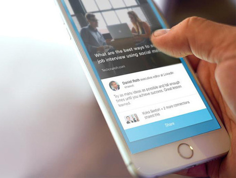 LinkedIn's launched a tool that prods employees to share company content - The Next Web | Princess of Curation | Scoop.it