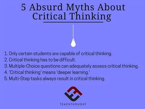 5 Absurd Myths About Critical Thinking - | TeachThought | Scoop.it