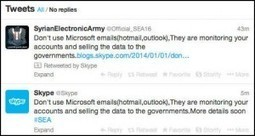 Skype's Twitter and blog accounts hacked by 'Syrian Electronic Army' | B-Gina™ TechNews Report | Scoop.it