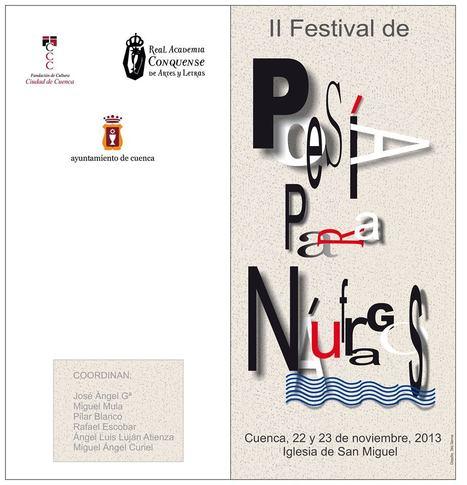 II FESTIVAL DE POESÍA PARA NÁUFRAGOS, 22 y 23 de Noviembre de 2013, Cuenca | MARATÓN DE CITAS | Scoop.it