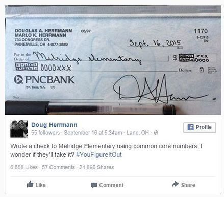 Dad Gets Revenge By Writing Check Using Common Core | Amanda Carroll | Scoop.it