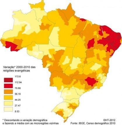 Les religions au Brésil en 2010 | Braises | Geomatic | Scoop.it