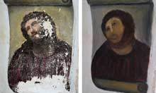 Spanish church mural ruined by well-intentioned restorer | More @SteveBeste | Scoop.it