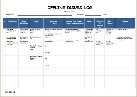 Issue Log In Collection Of Microsoft Word  Excel Templates  ScoopIt