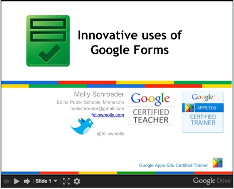 Innovative Ideas for Using Google Forms - followmolly.com | 21st century learning and education | Scoop.it