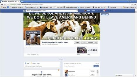 Liberal trolls wreak havoc on an obnoxious anti-Bergdahl Facebook page | Daily Crew | Scoop.it