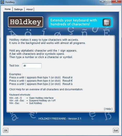 (TOOL) Holdkey – Windows program that makes it easy to type accented characters and some special symbols | Cibereducação | Scoop.it