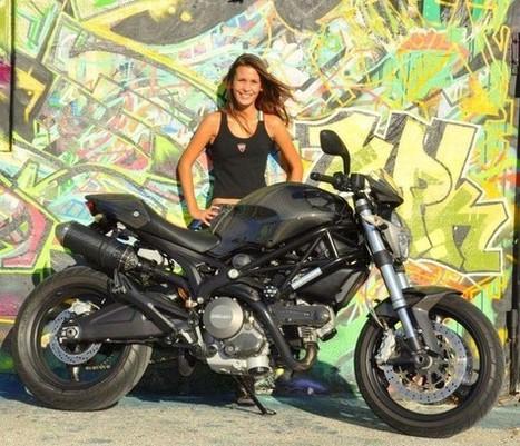 Shift-Tech | Devonne and her 696 Monster | Ducati Community | Ductalk Ducati News | Scoop.it