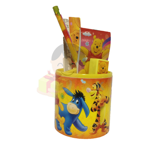 FUNCART WINNIE THE POOH STATIONERY STAND SET OF 6 ITEMS PACK