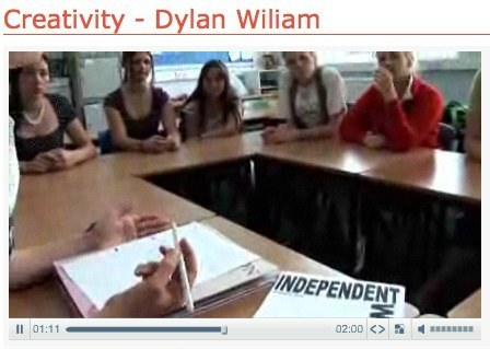 Creativity - Dylan Wiliam - Video search - Journey To Excellence | Learning, Teaching & Leading Today | Scoop.it