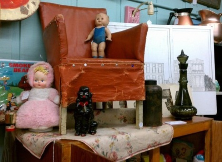 """Antique """"Stuffed"""" Child's Chair 