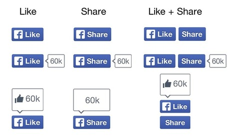 Facebook lance ses nouveaux boutons Like (J'aime) et Share (Je partage)   toute l'info sur Facebook   Scoop.it