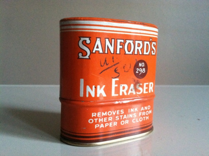 Sanfords Ink Eraser Tin.  Never Opened. | Antiques & Vintage Collectibles | Scoop.it