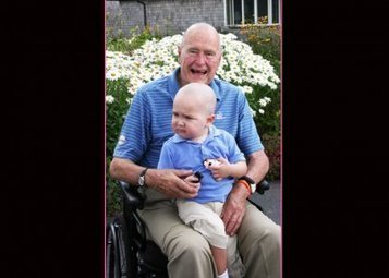 George H.W. Bush Shaves Head to Support 2-Year-Old Leukemia Patient | Morning Show prep | Scoop.it