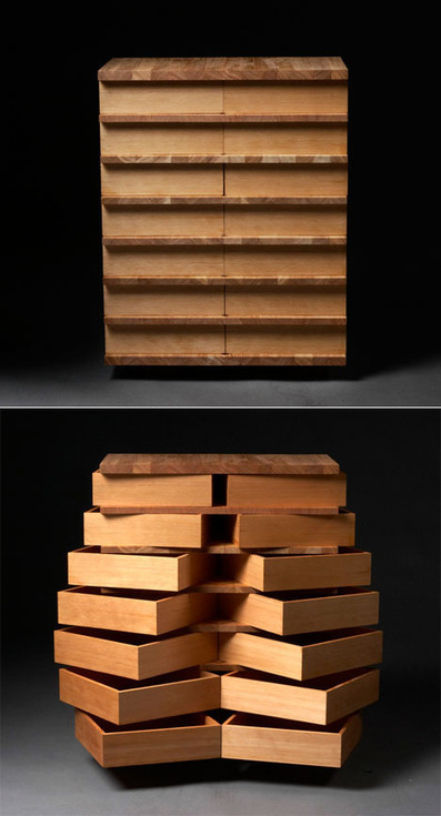 Storage Furniture with a Twist: Jakob Joergensen's Fjarill Drawers | What Surrounds You | Scoop.it