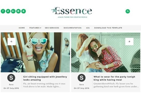 BTemplates: The Essence | Blogger themes | Scoop.it