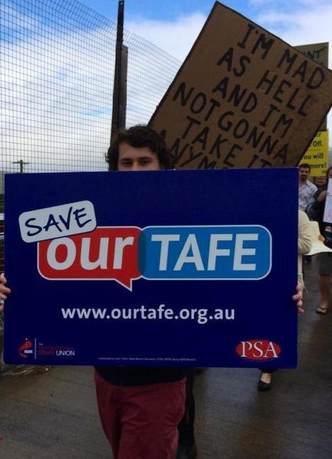 Ed on Twitter: Huge unemployment numbers of youth but Baird LNP cuts to TAFE #NoFibs #Gosf #MarchInAugust http://t.co/AUIZeZ8WCI | TAFE Vocational Education and Training | Scoop.it