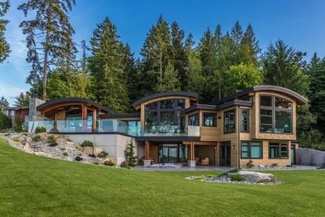 splendide maison bois flanc de colline surplombant locan vancouver island