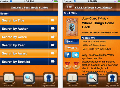 ALA's YASLA Division Launches Teen Book Finder App for iOS (Free) | LJ INFOdocket | Library Tech | Scoop.it