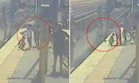 CCTV footage shows boy falling down gap at Brisbane train station   Creating designs 'fit' for people!   Scoop.it