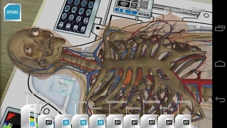 "An augmented reality Apple & Android app which allows you to explore human anatomy | Anatomy 4D - DAQRI | La ""Réalité Augmentée"" (Augmented Reality [AR]) 