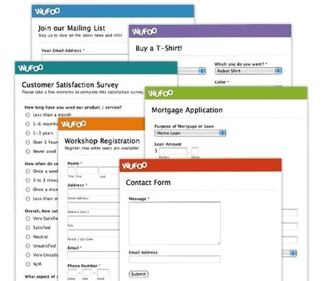 Online Form Builder with Cloud Storage Database | Wufoo | Elearning & Moodle | Scoop.it