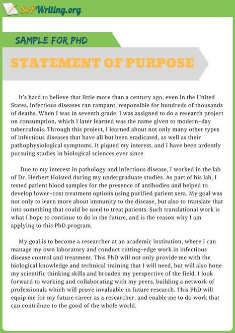 Statement of Purpose for PHD Sample | SOP Sampl