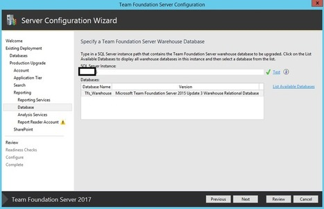 In-place upgrade to TFS 2017 RTW (Release To Web) with Reporting and SharePoint | Visual Studio ALM | Scoop.it