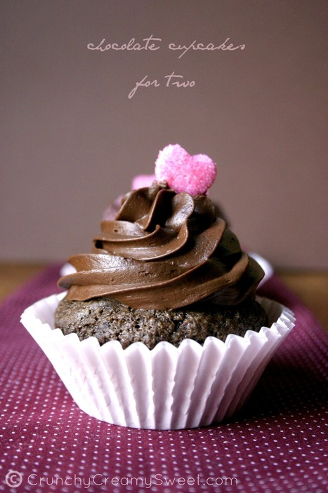 best chocolate cupcakes for two | Crunchy Creamy Sweet | Food for Foodies | Scoop.it