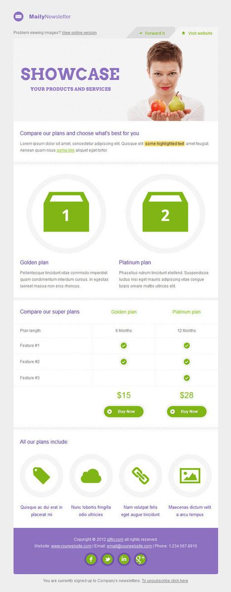 10 Templates de qualité pour vos newsletters - ressources | e-marketing and design | Scoop.it
