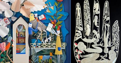 New Cut Paper Sculptures and Illustrations by Elsa Mora | Machinimania | Scoop.it