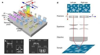 Researchers create 3-D stereoscopic color prints with nanopixels | Science technology and reaserch | Scoop.it