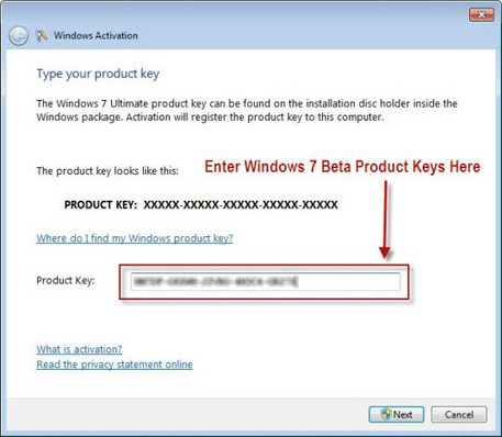 win 7 ultimate product key