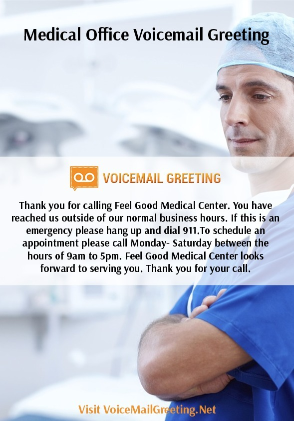Medical office voicemail greeting sample voic medical office voicemail greeting sample voic m4hsunfo