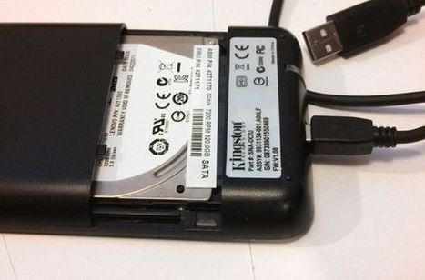 It's cheap and easy to make your own portable hard drive from an old PC drive   Great for #Backup   Free Tutorials in EN, FR, DE   Scoop.it