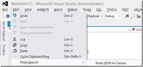 'Paste JSON As Classes' in ASP.NET and Web Tools 2012.2 RC | .Net Web Development | Scoop.it