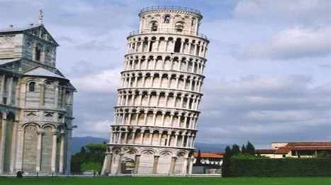 leaning tower of pisa 3d mapped with handheld l